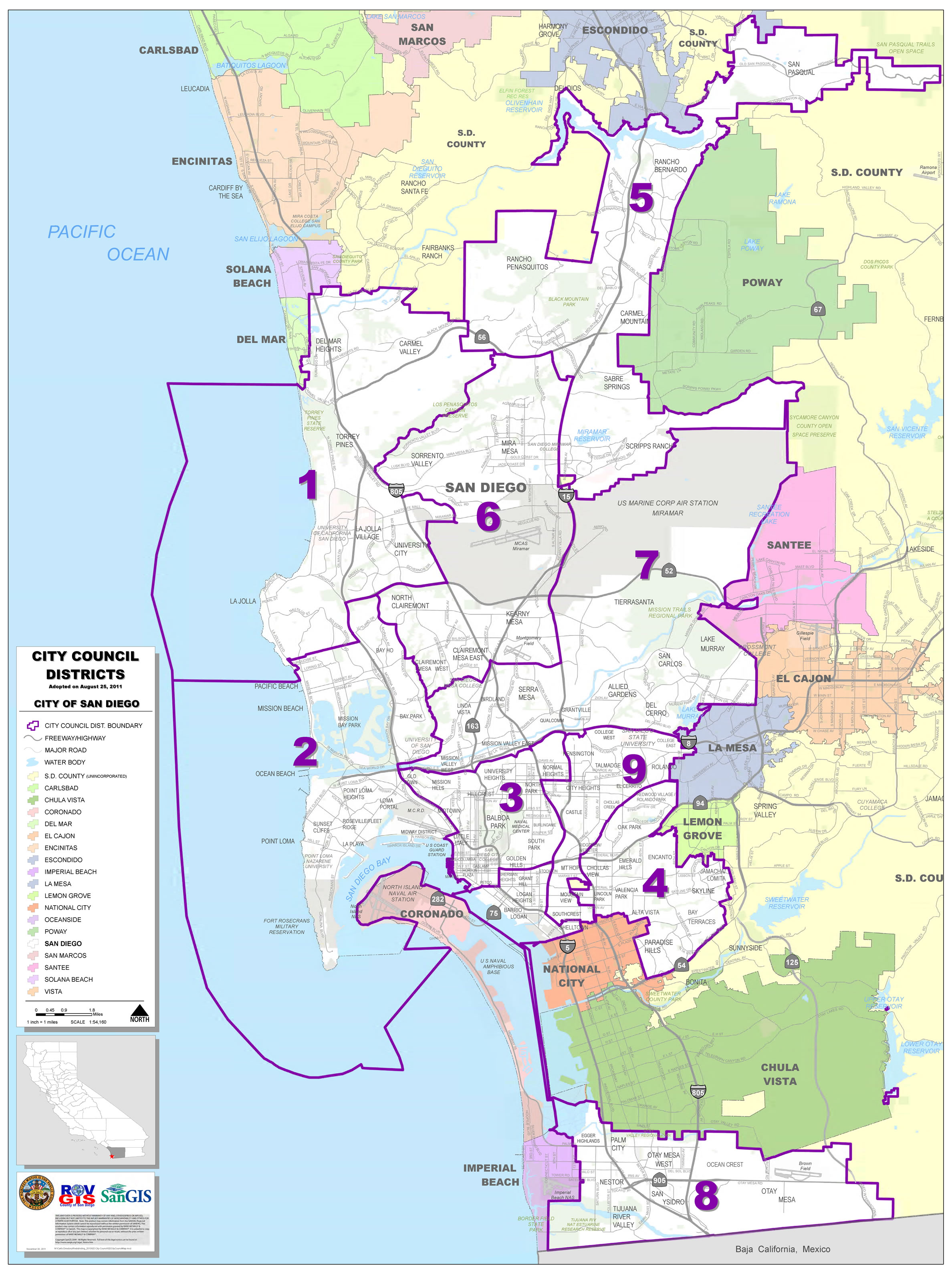 san diego city council districts