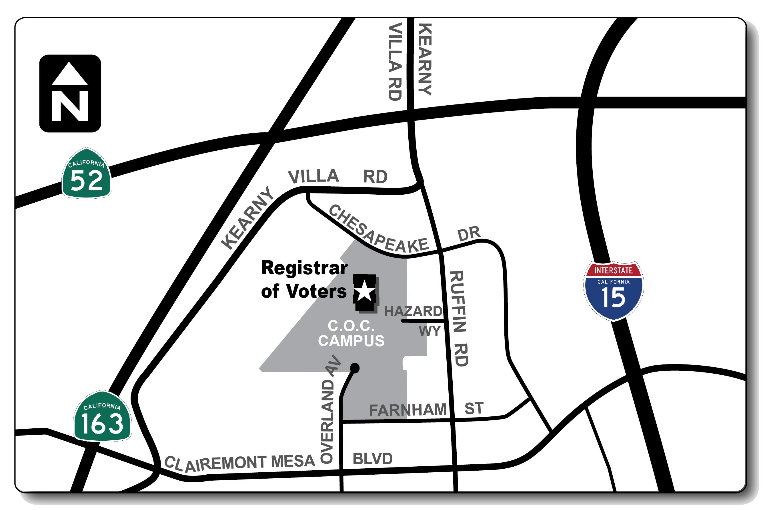 Contact Kearny Mesa Map on